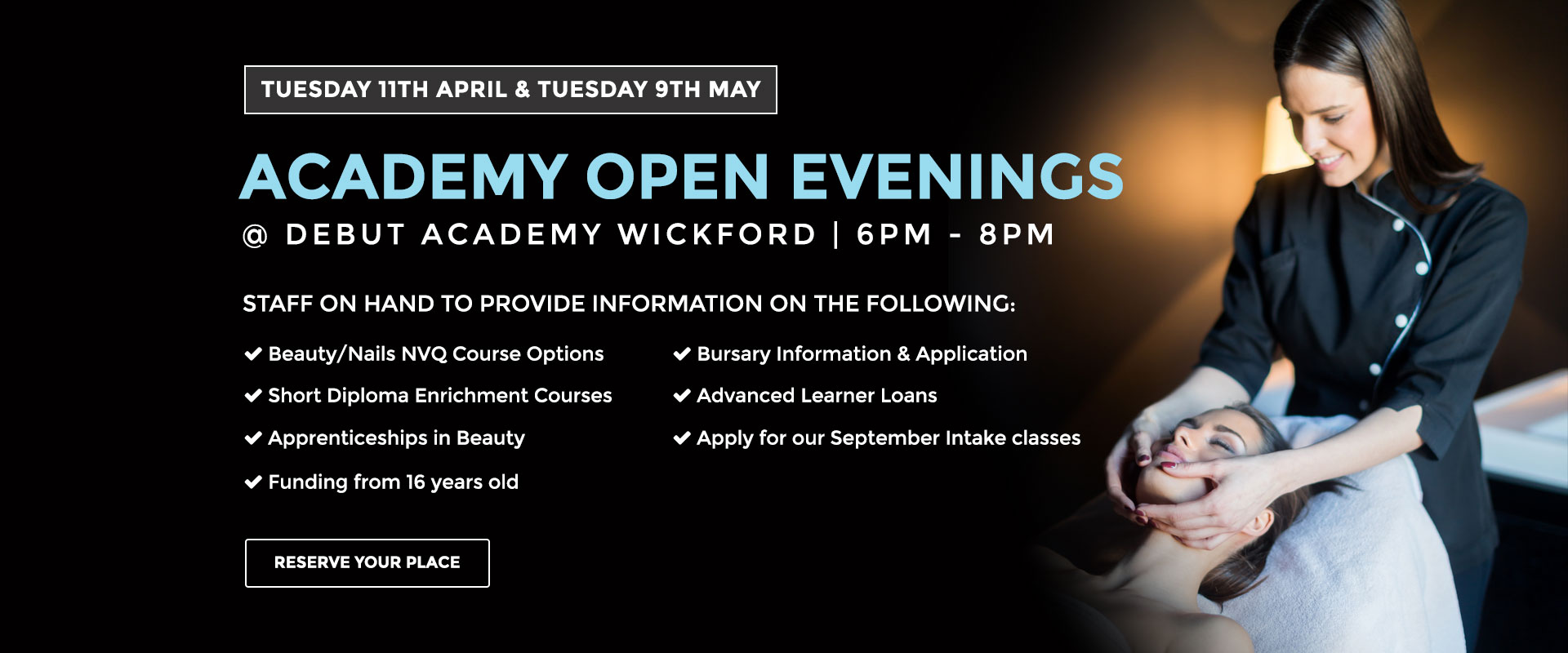 Academy open evening banner
